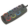 Kensington Kensington® SmartSockets® Color-Coded Eight-Outlet Adapter Model Surge Protector KMW 62691