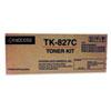Mita Kyocera TK827C Toner, 7,000 Page-Yield, Cyan KYO TK827C