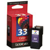 Lexmark Lexmark 18C0033 (33) Ink, 130 Page-Yield, Tri-Color LEX 18C0033