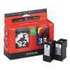 Lexmark Lexmark 18C0532 (32, 33) Ink, 390 Page-Yield, 2/Pack, Black; Tri-Color LEX 18C0532