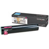 Lexmark Lexmark C930H2MG High-Yield Toner, 24000 Page-Yield, Magenta LEXC930H2MG