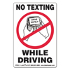 Labelmaster LabelMaster® No Texting Self-Adhesive Labels LMT RT30