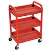 Janitorial Carts, Trucks, and Utility Carts: Luxor - Multi-Purpose 3-Shelf Cart