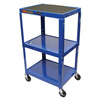 Luxor Duraweld Adjustable Height Table LUXAVJ42-RB