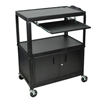 Cake Pie Covers Stands: Luxor - Extra Large Cart W/ Keyboard Shelf & Cabinet