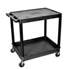 Luxor 2-Shelf Tub Cart LUX TC21-B