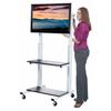 Luxor Crank Adjustable Flat Panel TV Cart LUX CLCD