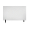 Luxor Acrylic Sneeze Guard Desk Divider - 48 x 30 Clamp-On, Frosted LUX DIVCL-4830F