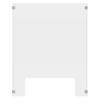 Luxor 24 x 30 Clear Acrylic Divider w/ Cutout w/ side 8 x 30 Panels LUX DIVCU-2430C