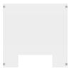 Luxor 30 x 30 Clear Acrylic Divider w/ Cutout w/ side 8 x 30 Panels LUX DIVCU-3030C