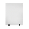 Luxor Acrylic Sneeze Guard Desk Divider - 24 x 30 Tabletop, Frosted LUX DIVTT-2430F