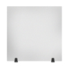 Luxor Acrylic Sneeze Guard Desk Divider - 30 x 30 Tabletop, Frosted LUX DIVTT-3030F