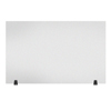 Luxor Acrylic Sneeze Guard Desk Divider - 48 x 30 Tabletop, Frosted LUX DIVTT-4830F