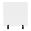Luxor 24 x 24 Clear Acrylic Divider w/ 2 Divider Wall Top Clamps LUX DIVWT-2424C