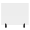 Luxor 30 x 24 Clear Acrylic Divider w/ 2 Divider Wall Top Clamps LUX DIVWT-3024C