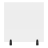 Luxor 30 x 30 Clear Acrylic Divider w/ 2 Divider Wall Top Clamps LUX DIVWT-3030C