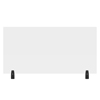 Luxor 48 x 24 Clear Acrylic Divider w/ 2 Divider Wall Top Clamps LUX DIVWT-4824C
