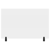 Luxor 48 x 30 Clear Acrylic Divider w/ 2 Divider Wall Top Clamps LUX DIVWT-4830C