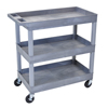 Luxor 3-Shelf High Capacity Tub Cart LUX EC111-G