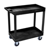 Luxor 2-Shelf High Capacity Tub Cart with Heavy Duty 5 Casters LUX EC11HD-B