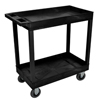 Janitorial Carts, Trucks, and Utility Carts: Luxor - Black 2 Tub Cart W/ SP5 Casters