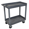 Luxor Gray 2 Tub Cart W/ SP5 Casters LUX EC11SP5-G
