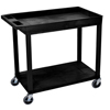 Janitorial Carts, Trucks, and Utility Carts: Luxor - 18x32 Cart 1 Tub/1 Flat Shelf