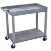 Janitorial Carts, Trucks, and Utility Carts: Luxor - 18x32 Cart 1 Tub/1 Flat Shelf