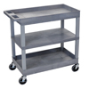 Luxor 18 x 32 Cart 2 Tub with 1 Flat Shelf LUXEC121-G