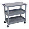 Luxor 18x32 Cart with 2 Tub Shelves and 1 Flat Shelf LUXEC211-G