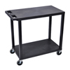 Luxor 18x32 Cart with 2 Flat Shelves LUXEC22-B