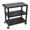 utility carts, trucks and ladders: Luxor - 18x32 Cart 3 Flat Shelves