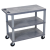 Janitorial Carts, Trucks, and Utility Carts: Luxor - 18x32 Cart 3 Flat Shelves