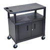 Luxor Utility Cart w/Cabinet LUX EC34C-B