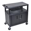 Luxor Utility Cart w/Cabinet LUX EC34CD-B