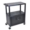 Luxor Utility Cart w/Cabinet LUX EC38C-B