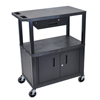 utility carts, trucks and ladders: Luxor - Utility Cart w/Cabinet