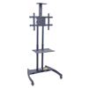 Luxor TV Mount Stands: Luxor - FP2750 Series Adjustable Flat Panel Cart with Shelf & Camera Mount