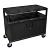 Luxor Industrial Wide Cart with Steel Locking Cabinet LUX HEW385C-B