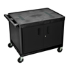 Luxor Endura Video Equipment Table with Cabinet LUXLE27C-B