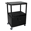 Luxor Endura Video Equipment Table with Cabinet LUXLE34C-B