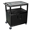 Luxor 40H AV Cart - Three Shelves, Cabinet LUX LE40C-B