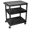 Luxor 40H AV Cart - Three Shelves LUX LE40-B