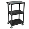 Luxor 42H AV Cart - Three Shelves LUX LE42-B