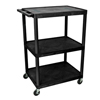 Luxor 48H AV Cart - Three Shelves LUX LE48-B