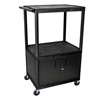 Luxor 54H AV Cart - Three Shelves, Cabinet LUX LE54C-B
