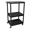 Luxor 54H AV Cart - Three Shelves LUX LE54-B