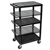Luxor Multi-Height AV Cart - Three Shelves LUX LEDUO-B