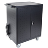 Luxor 32-Laptop/Chromebook Charging Cart with Timer LUX LLTP32-B