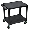 Luxor 26 Plastic Shelf Cart & Stand LUX LP26E-B